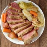 Slow Cooker Corned Beef and Cabbage Recipe- Your home will smell amazing all day. #recipe #cornedbeefandcabbage #stpatricksday #dinner #crockpot #myhomebasedlife | Slow Cooker Corned Beef and Cabbage Recipe | Dinner Recipe | Corned Beef and Cabbage Recipe | St. Patrick's Day Dinner Recipe | Crockpot Recipe | Easy Dinner Recipe |