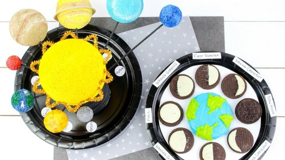 Solar System Planet Model and Moon Phases Learning Craft