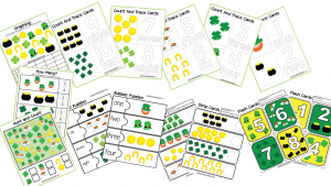 50 Page St. Patrick's Day Preschool Activity Book Printable