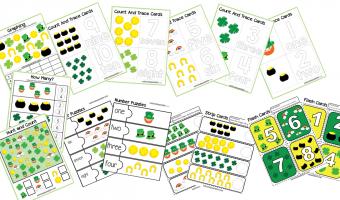 50 Page St. Patrick's Day Preschool Activity Book Printable