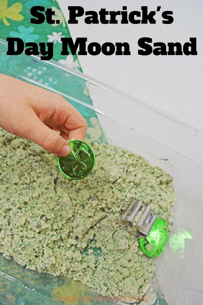 St. Patrick's Day Moon Sand