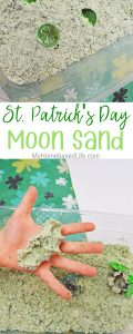 St. Patrick's Day Moon Sand pin