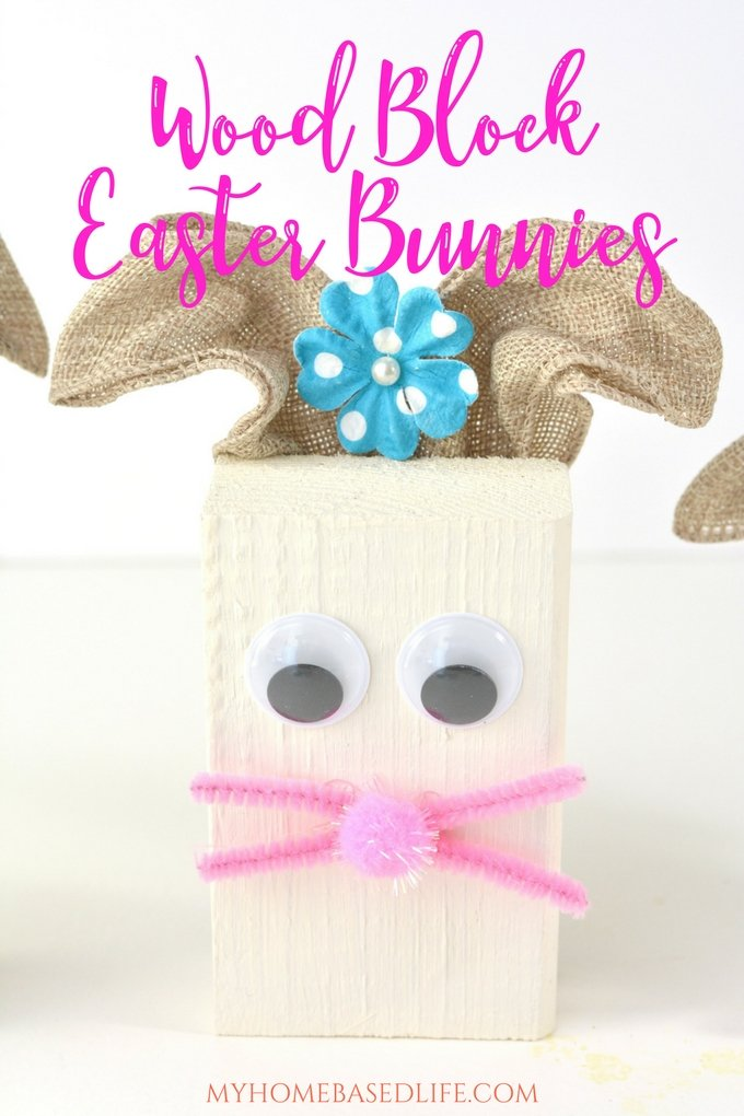 Wood Block Easter Bunny DIY