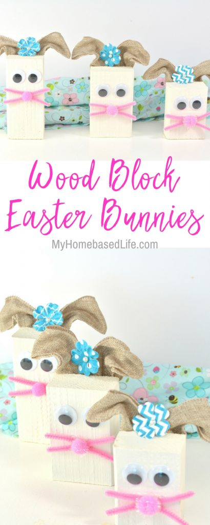 Wood Block Easter Bunny DIY