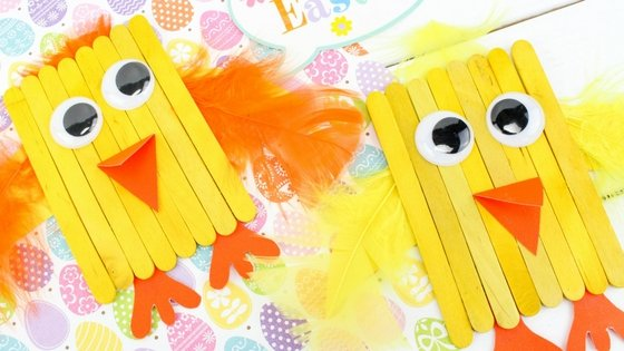 Popsicle Stick Spring Chicks