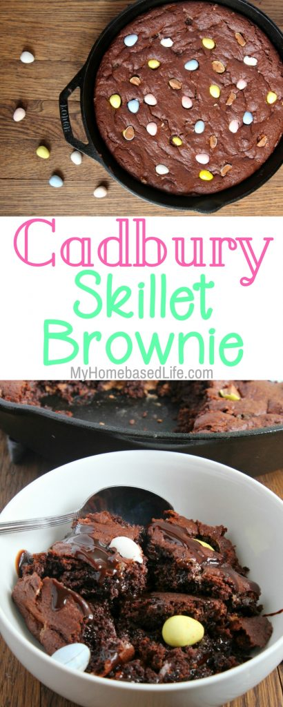 Cadbury Eggs Skillet Brownie Recipe