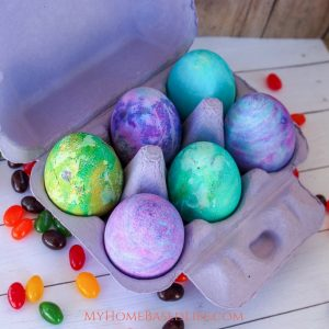 Dying Easter Eggs with Whipped Cream