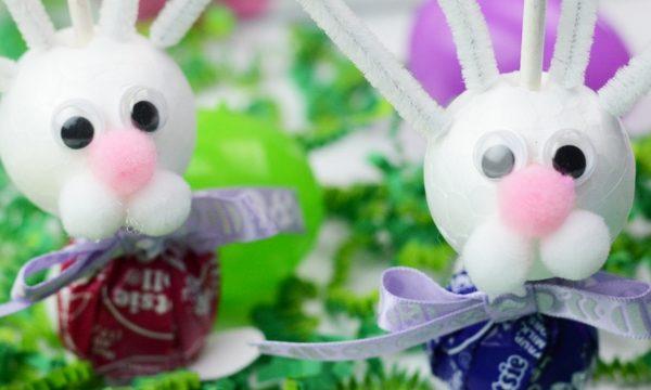Easter Bunny Suckers Kids Craft + Video