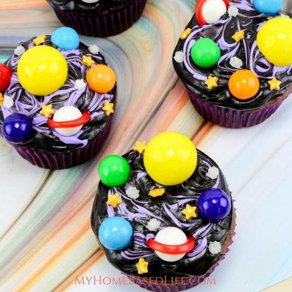 Easy Galaxy Cupcakes Recipe My Home Based Life