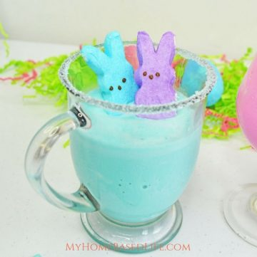 A Spring dessert option with the Peeps Marshmallows that the kids will love. This Peeps Milkshake Recipe is one the kids can make on their own if they want and have very little to clean up. #peeps #milkshakes #recipe #forkids #easter #myhomebasedlife | Milkshake Recipe | Peeps Marshmallow Recipe | Easter Recipe | Easy Dessert Idea | Simple Milkshake Recipe | Drink Recipe |