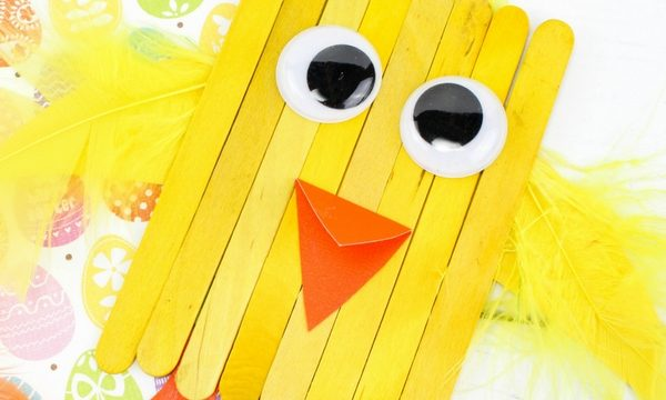 Popsicle Stick Spring Chicks – Kids Craft