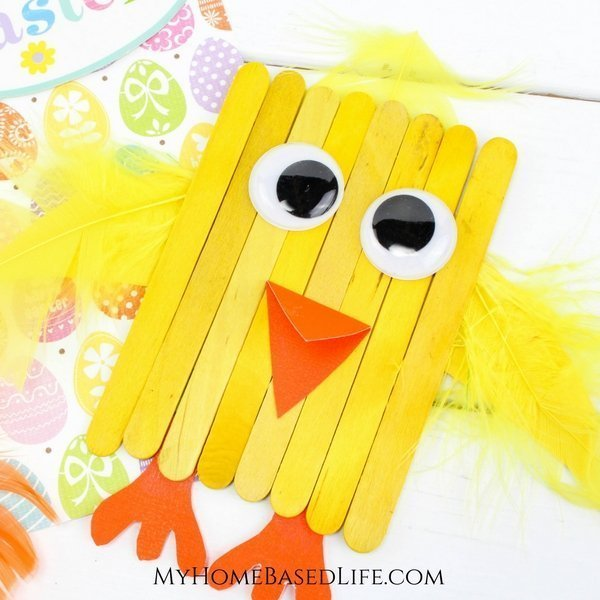 Popsicle Stick Spring Chicks
