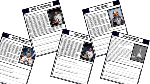 Astronauts and Space Shuttles Printable Workbook
