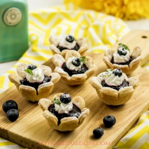 Flower Blueberry Tarts Recipe