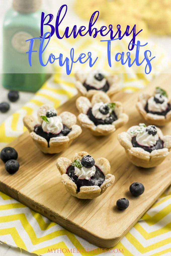 Blueberry Flower Tarts Recipe