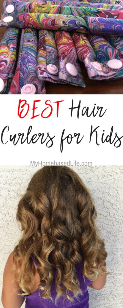 Curls don't fall flat and no heat required! These hair curlers for kids are the real deal and they ROCK which makes them the BEST hair curlers for kids. #kids #hairstyles #fashion #haircurlers #myeasycurls #myhomebasedlifels | Hairstyles | Fashion for Kids | Kids Hair Styles | Hair Curlers for Kids | No Heat Hair Styles | Parenting