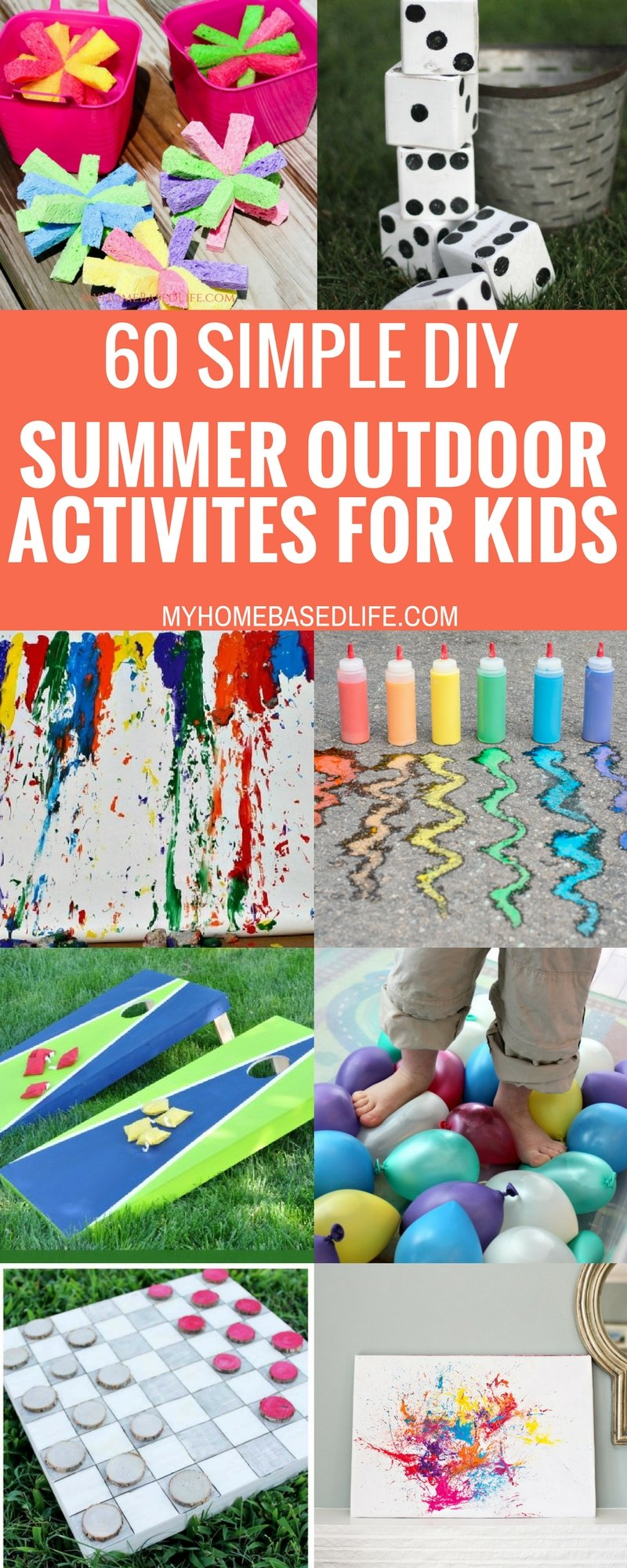 With these 60 Summer Outdoor Activities for Kids, you will have something lined up all summer long. Get ready for the summer of a lifetime! #summertime #outdooractivities #unplugged #kids #wateractivities #yardgames #myhomebasedlife | Fun Yard Games | Summertime Fun | Summer Games | Outdoor Activities for Kids | Easy DIY yard Games | Easy DIY Water Activities | Family Summer Fun |