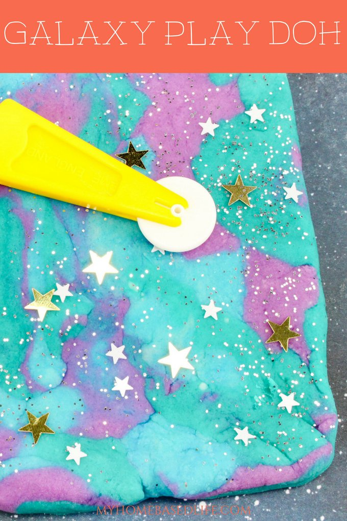 Plan a space night with the help of this Galaxy Play Doh recipe. Ask your kids how many stars and planets they see in theirs. Hours of fun right here!