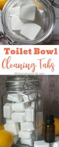 These Homemade Toilet Cleaner Bowl Tabs are going to rock your cleaning world. They are made right in your house, so your kiddos can help too. #essentialoils #cleaninghack #bathroomhack #toiletcleaner #frugaltip #myhomebasedlife | Frugal Living | Bathroom Hack | Cleaning Hack | Toilet Cleaners | DIY Cleaner |