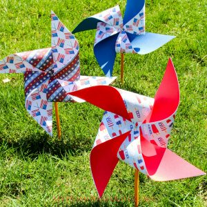 Patriotic Pinwheels Craft for Kids