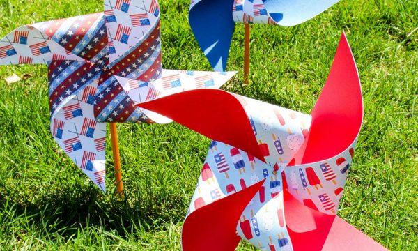Patriotic Pinwheels Craft for Kids