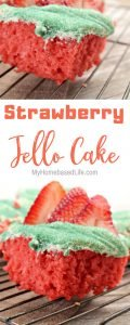 Grab the kids and have them make this Simple Strawberry Jello Cake Recipe with you. It sure won't last long after it is done. #jello #cake #strawberry #recipe #video | Food Video | Jello Cake | Dessert Recipe | Strawberry Recipe