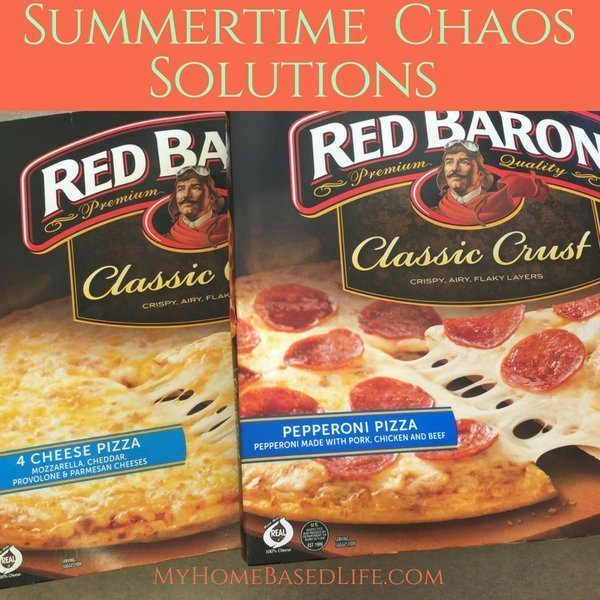 When all the kids are home, it can get a bit crazy around here. Mealtimes don't have to be hard. Red Baron is my go-to for busy summer chaos. #ad @redbaronpizza #NeverFlySolo #summerchaos | Parenting | Summertime |