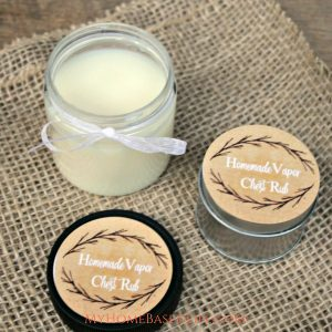 Making this Vapor Chest Rub is going to be a lifesaver for your family. Vapor Rub is easy to make, but it also smells really good! #vaporrub #diy #homemadecoldremedy #homeremedy #myhomebasedlife | Home Remedy | Cold Remedy | Natural Living | DIY | Do It Yourself | Parenting | Vapor Rub Recipes