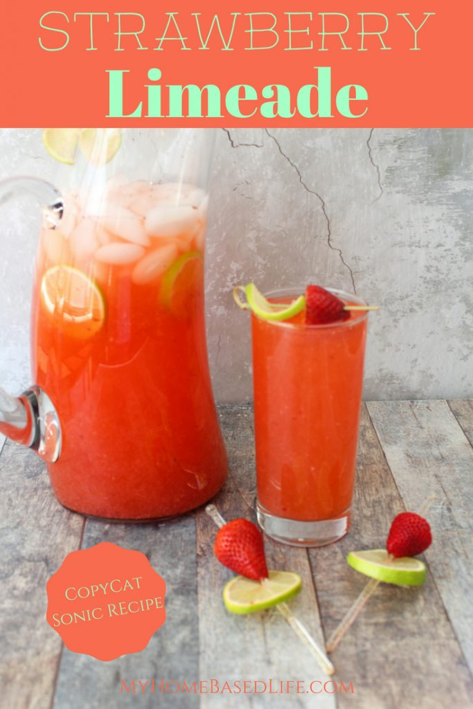 ThisCopyCat Sonic Strawberry Limeade Recipe is something everyone will love. Perfect drink recipe parties and get-togethers too with just 3 ingredients. #sonic #strawberrylimeade #copycat | Strawberry Recipes | Drink Recipes | Copycat Recipes | Sonic Recipes