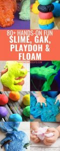 Get ready to let your kids loose on this MASSIVE list of Floam, Slime, Gak, and Playdoh. With over 80 recipes to choose from sky's the limit. #gak #slime #floam #playdoh #kidsactivities #myhomebasedlife | Kids Activities | Gak Recipes | Slime Recipes | Floam Recipes | Playdoh Recipes | Playdough Recipes | Kids DIY