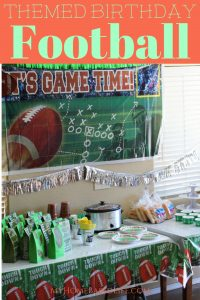 Gear up for this incredible football themed birthday party suitable for kids of all ages. Decorations, food, invites, games, and party favors ideas. #birthdaypartytheme #footballbirthday #footballparty #diy #myhomebasedlife | Themed Birthday Party Ideas | Party Ideas | Football Party | Boys Birthday Party Ideas |