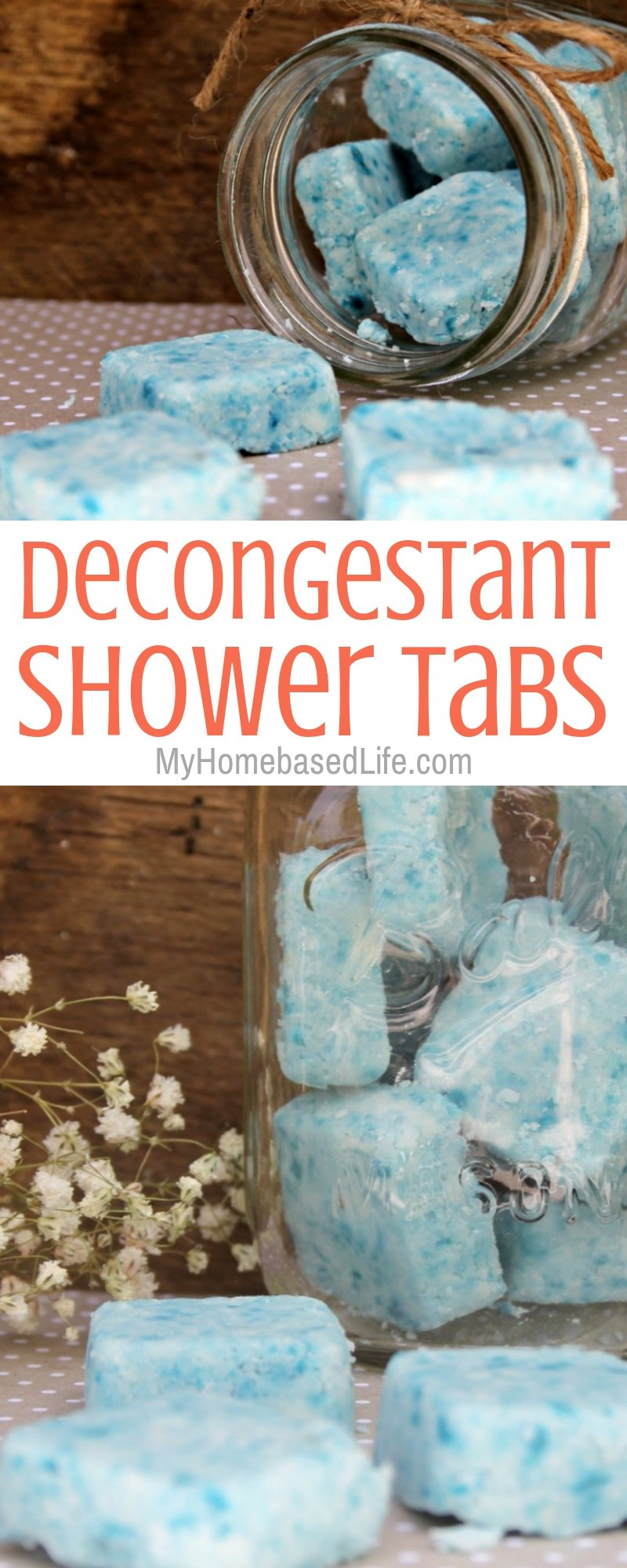 These Decongestant Shower Tablets are so easy to make and easy to use, which is the best kind of parenting hack in my book. #myhomebasedlife #parenthack #essentialoils #decongestant #howto | Decongestant Remedies | Home Remedies | Decongestant Shower Tablets | Shower Tablets | Homemade Shower Tablets | Essential Oil Tablets | Parent Hack | Cold Hack
