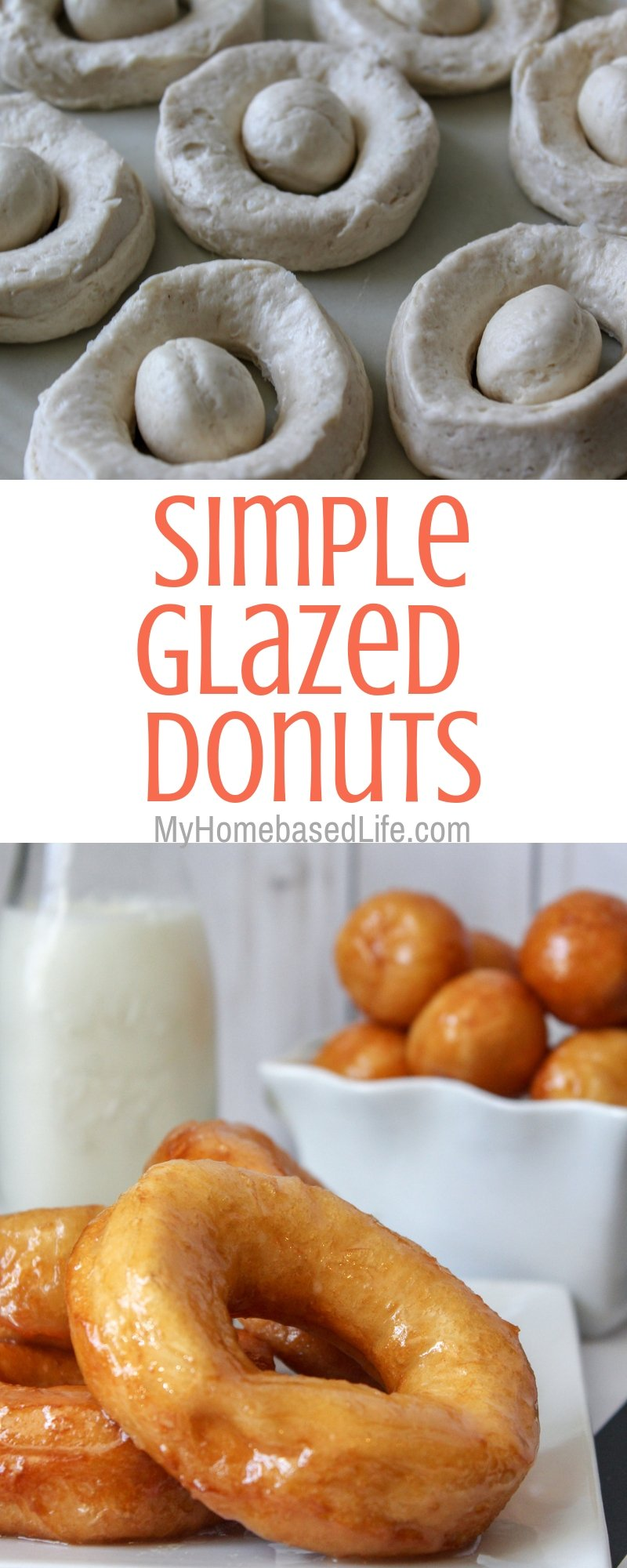 Change up your breakfast routine and make these simple glazed donuts instead. The kids love them and you will get serious