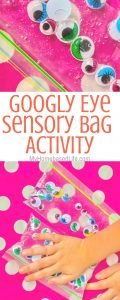 This Googly Eye Sensory Bag Activity is so much fun but even easier to put together. Perfect for little learners and sensory play. #sensorybag #sensoryplay #kidsactivity #preschool #kindergarten #parenting #diy #myhomebasedlife   Kids Activity   Sensory Play Ideas   Sensory Bag Ideas   Preschool Activities   Kindergarten Activities