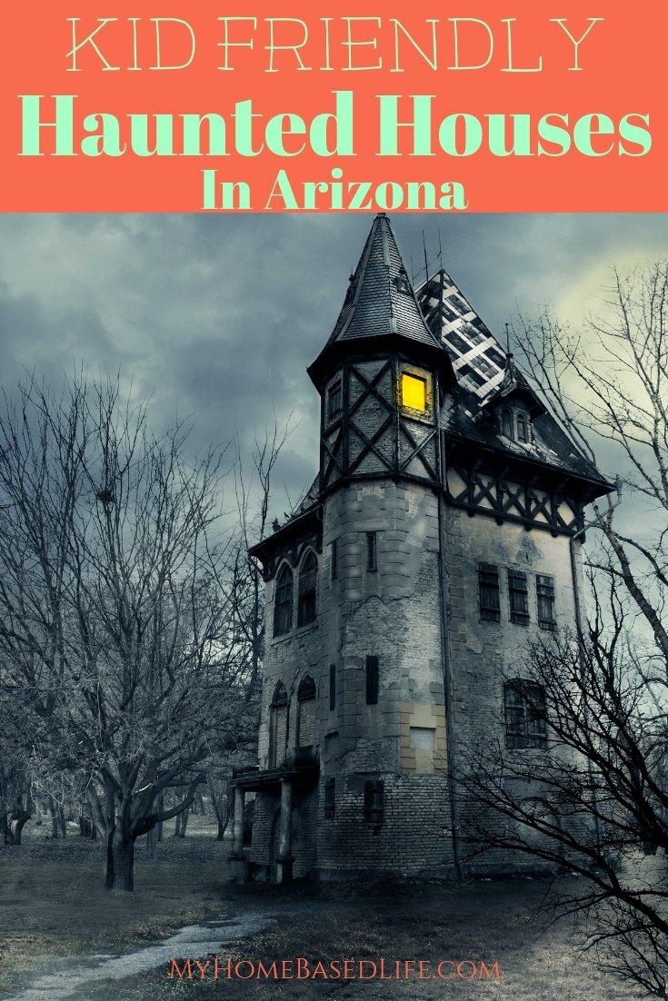 During the Halloween season, Arizona has its share of scary haunted houses. Here are 5 Kid-Friendly Haunted Houses in Arizona. #hauntedhouses #arizona #kidfriendly @NFOldTucson @GhostTownTours @gilahauntedjail @dbgphx @SEALIFEArizona #myhomebasedlife | Haunted Housed In Arizona | Arizona Travel | Halloween