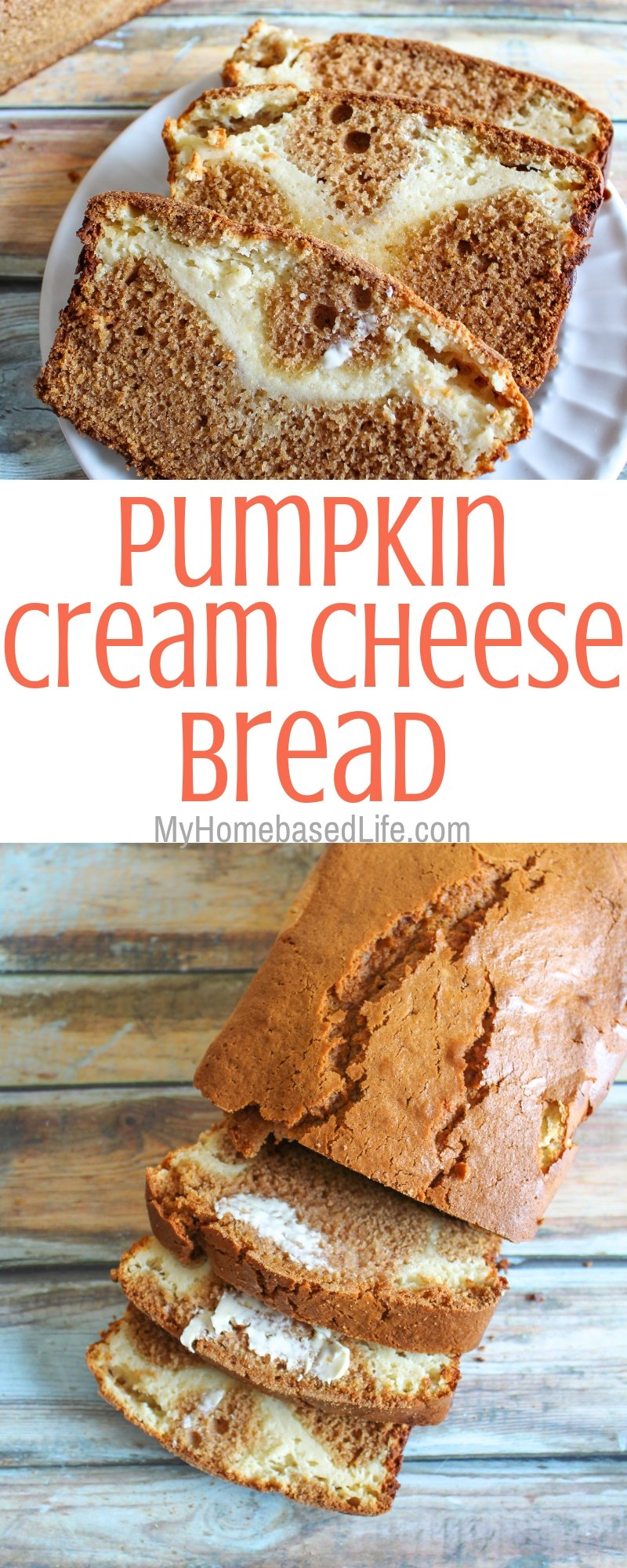 Perfect for a fall dessert recipe this Pumpkin Cream Cheese Filled Bread will not disappoint. It also makes the house smell amazing! #MakeItMazola #simpleswap #CollectiveBias #myhomebasedlife #pumpkinrecipes | Pumpkin Recipes | Cream Cheese Filled Bread | Pumpkin Bread | Fall Recipes | Dessert Recipes | Breakfast Recipes
