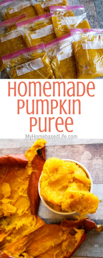Put an end to buying pumpkin every year. Let me show you How to make your own Pumpkin Puree for all of your pumpkin recipes needs. #pumpkinrecipes #pumpkinpuree #homemade #howto #myhomebasedlife   Pumpkin Recipes   Homemade Pumpkin Puree   How to make pumpkin puree  