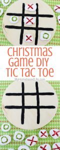 It's the holiday season so finding things to do indoors like this Tic Tac Toe Christmas game for kids, could be difficult. Make your own with these steps. #christmas #christmasgamesforkids #diygames #kidsactivities #kidsdiy #myhomebasedlife | Christmas Games for Kids | DIY Christmas Games | Kids DIY | Easy Christmas Crafts for Kids