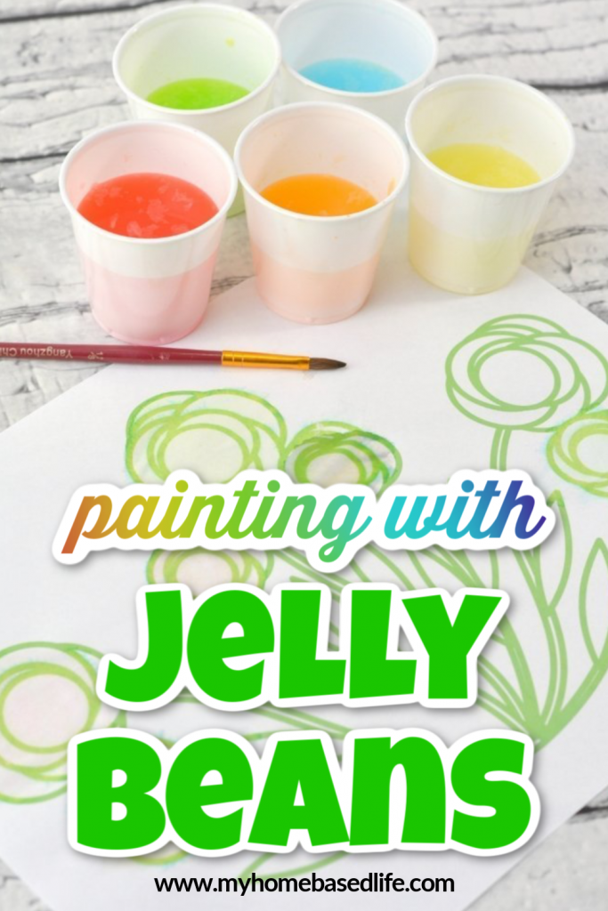 watercolor painting with jelly beans