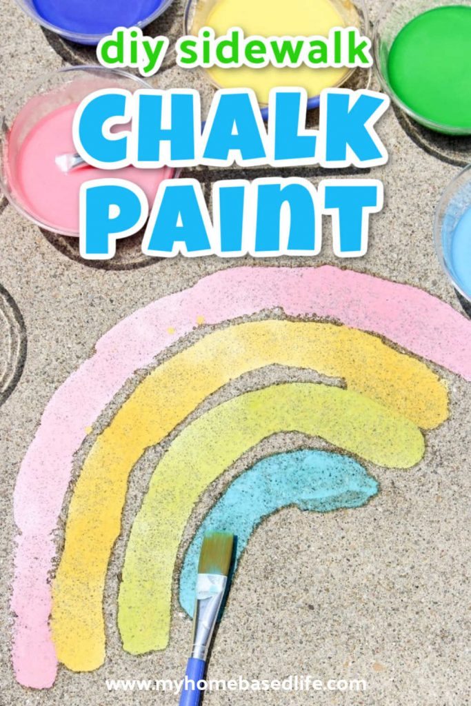 how to make your own sidewalk chalk paint