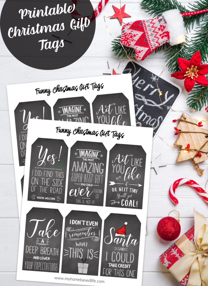 free Christmas gift tag printable, these funny Christmas gift tags are always a hit