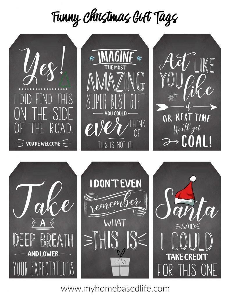 funny Christmas tag free printable