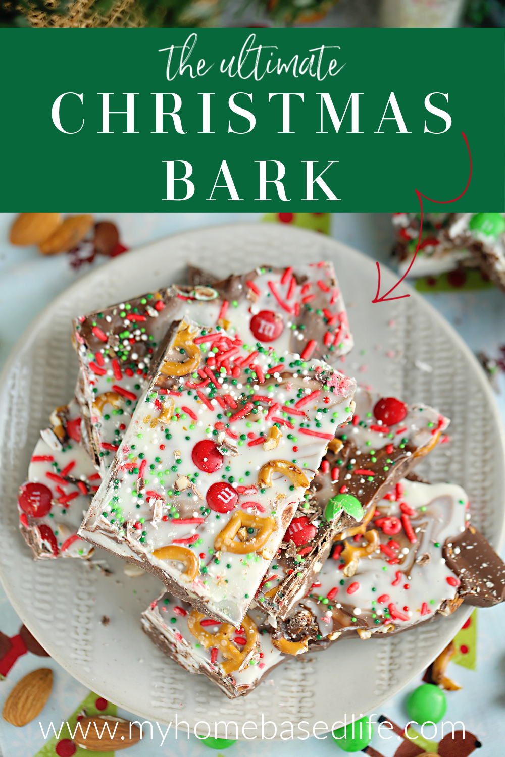 ultimate kitchen sink Christmas bark recipe an easy no bake Christmas dessert recipe