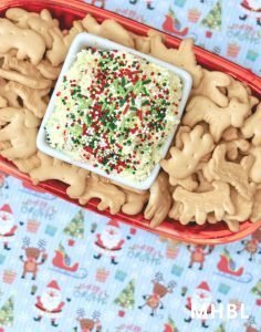 Christmas cake batter dip recipe - an easy no bake Christmas dessert