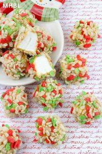 caramel marshmallow treats for Christmas
