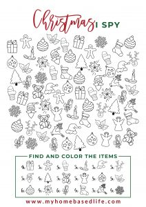 free printable Christmas I-spy