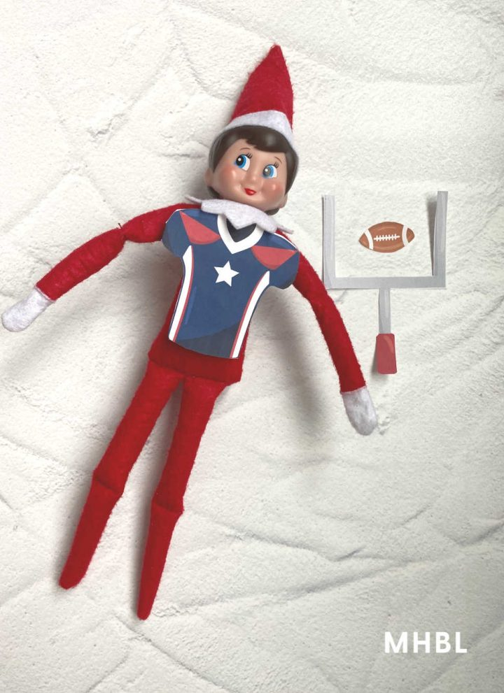 elf on the shelf playing football