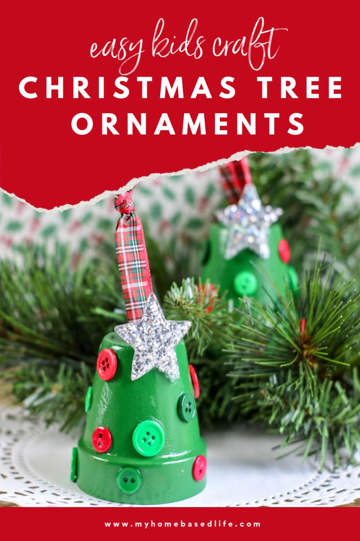 kids Christmas tree ornaments an easy Christmas DIY