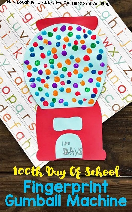100 gumboils craft idea for 100th day of school