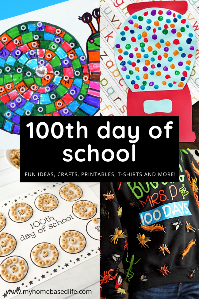 100th day of school activities, crafts, printables, t-shirt ideas and more